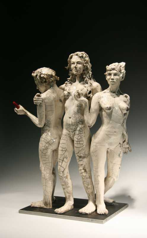 Three_Graces_with_Cell_phone-34R-L-Bob_Clyatt_Sculpture