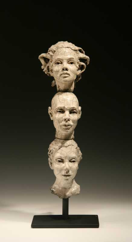 Three_Head_Stack_raku_6-11-L-Bob_Clyatt_Sculpture